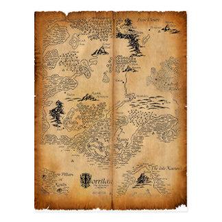 Postal Mapa del continente abandonado
