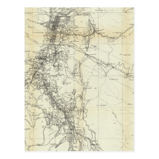 Postal Mapa del esquema del distrito de Washoe