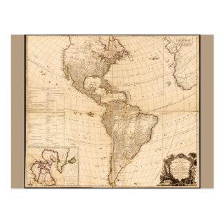 Postal Mapa del norte y de Suramérica (1786)