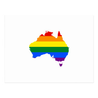 Postal Mapa del orgullo del arco iris de LGBT de