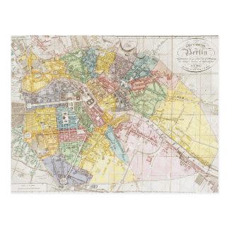 Postal Mapa del vintage de Berlín (1846)