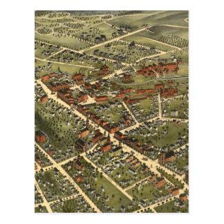 Postal Mapa del vintage de Danbury Connecticut (1875)