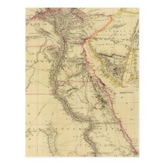 Postal Mapa del vintage de Egipto (1832)