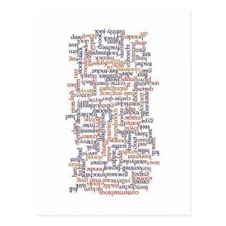 Postal Mapa dórico de la palabra