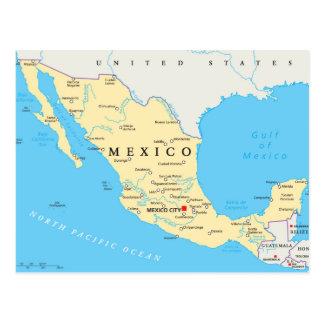 Postal Mapa político de México