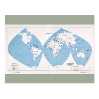 Postal Mapa político del mundo (1983)