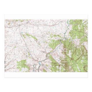 Postal Mapa topográfico