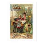 """Postal Máquina de coser del cantante Victorian """"de la"""