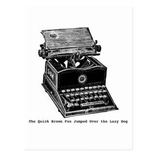Postal Máquina de escribir, el Fox rápido de Brown…