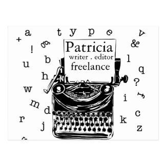 Postal Máquina de escribir linda del handdrawin del