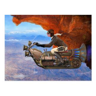 Postal Máquina de vuelo de Steampunk