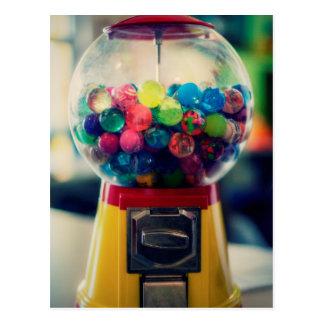 Postal Máquina del juguete del bubblegum del caramelo