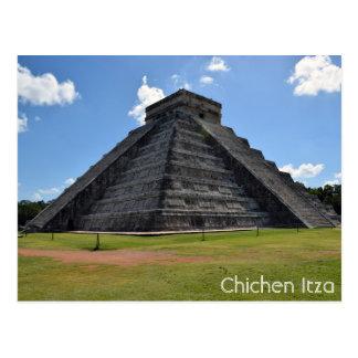 Postal Maravillas de la pirámide 7 de Chichen Itza México