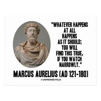 Postal Marco Aurelius lo que sucede en absoluto sucede