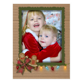Postal Marco de la foto del navidad en la cartulina