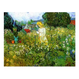 Postal Margarita Gachet en el jardín de Van Gogh