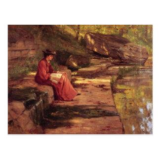 Postal Margarita por el río de Theodore Steele clemente