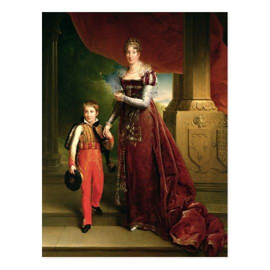 Postal Marie Amelie de Borbón