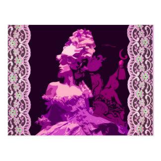 Postal Marie Antionette - púrpura