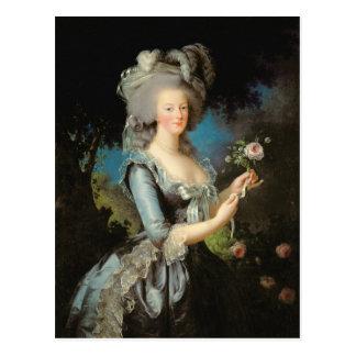 Postal Marie Antonieta con un color de rosa, 1783
