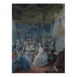 Postal Marie Antonieta en su cámara en Versalles
