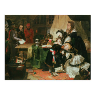 Postal Marie Antonieta y sus niños