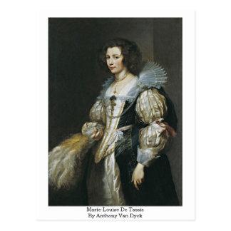 Postal Marie-Louise De Tassis By Anthony Van Dyck