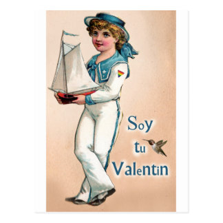Postal Marinero Valentin