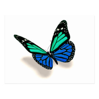 Postal mariposa 3D