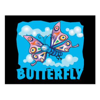 Postal Mariposa amistosa del niño
