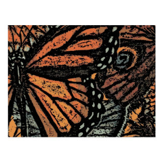 Postal Mariposa de monarca abstracta