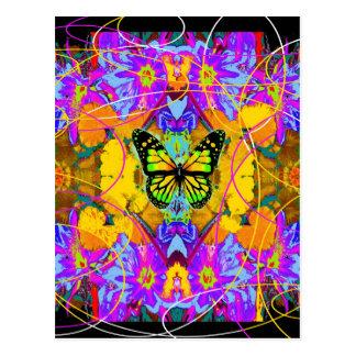 Postal Mariposa de monarca del arte moderno Daeden por