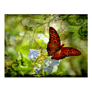 Postal Mariposa de Swirly