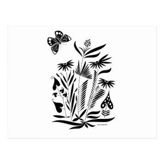Postal Mariposa en la hierba
