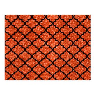 Postal Marroquí anaranjado de neón del brillo