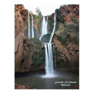 Postal Marruecos-Cascada D'Ouzoud