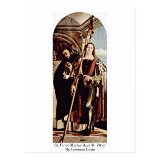 Postal Mártir y St. Vitus de San Pedro de Lorenzo Lotto