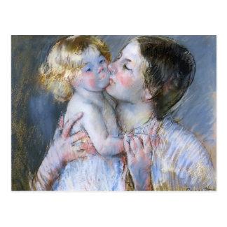 Postal Mary Cassatt: Un beso para el bebé Anne (no. 3)