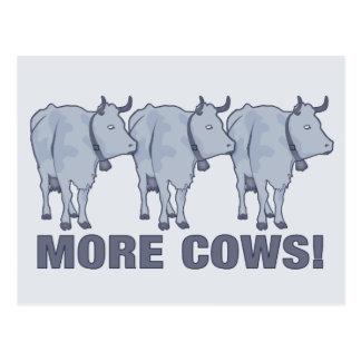 Postal ¡Más vacas!