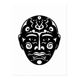 Postal Máscara artística