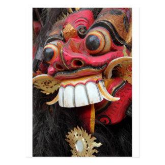 Postal Máscara de Bali Barong