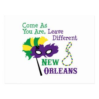 Postal Máscara de New Orleans