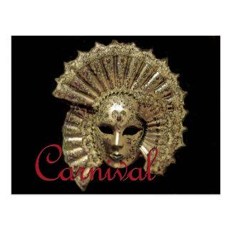 Postal Máscara del carnaval de Venitian