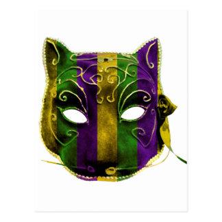 Postal Máscara del carnaval del Catwoman