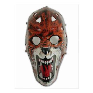 Postal Máscara del hockey