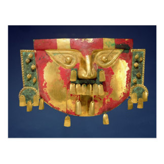 Postal Máscara del inca