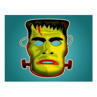 Postal Máscara del monstruo de Frankenstein