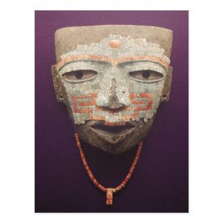 Postal Máscara fúnebre de Teotihuacan