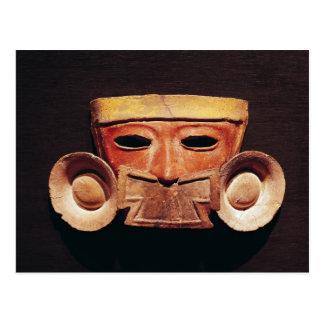 Postal Máscara humana, de Teotihuacan
