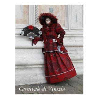 Postal Mascarada del carnaval de Venecia